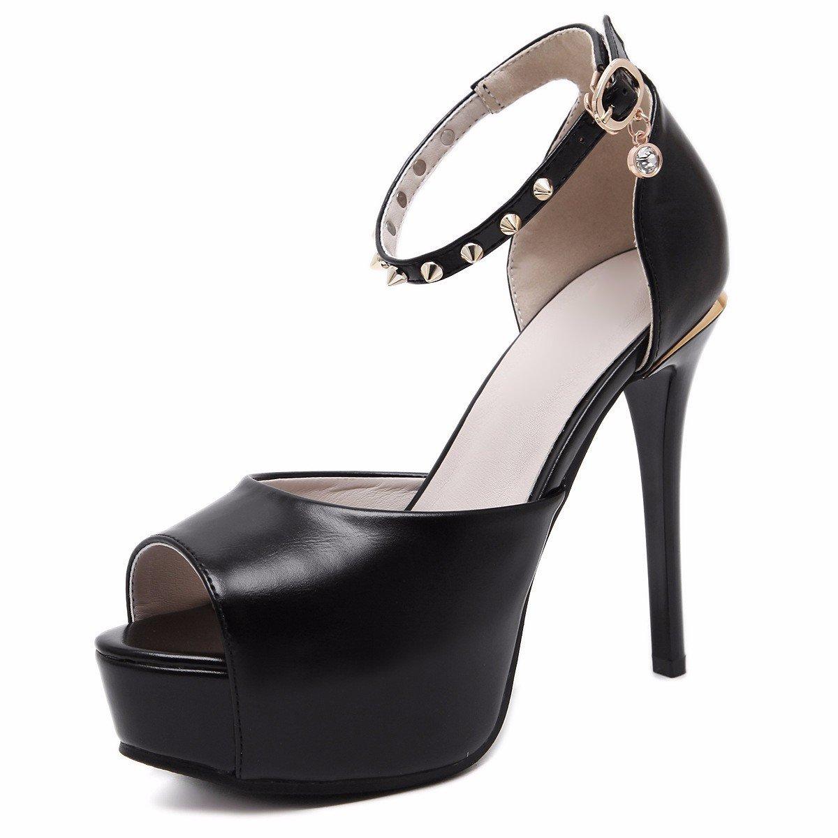 HBDLH-Damenschuhe/Fliege Schuhe mit 12Cm High Heels Öffnen Sie Die Sexy Loch Ein Wort an.