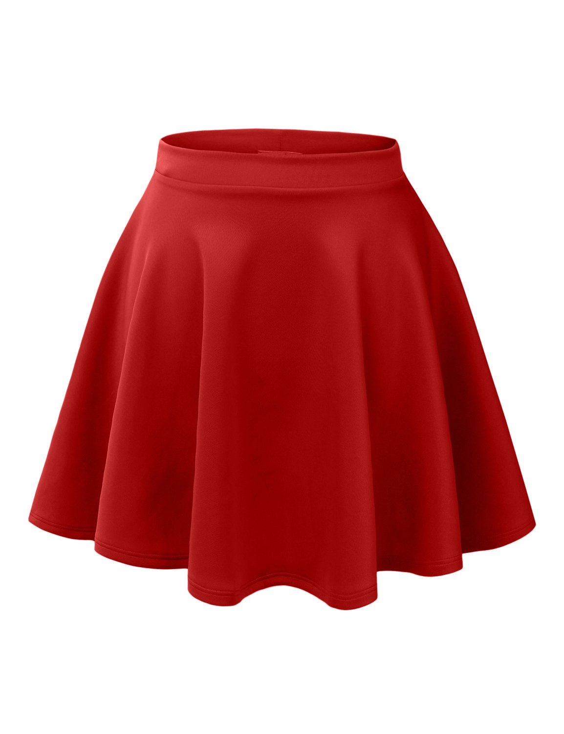 RK RUBY KARAT Womens Casual Flared Color Skater Skirt