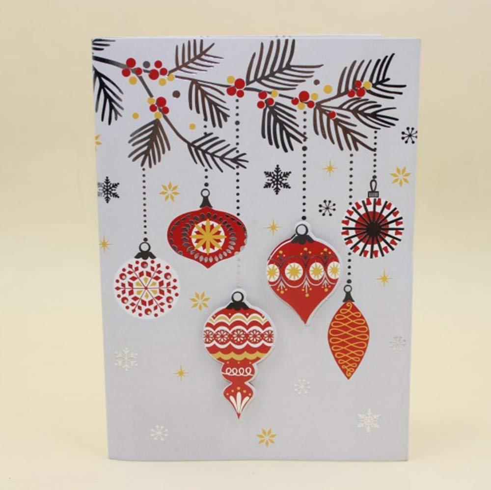 ZhiGe Tarjeta de Navidad 10 Unidades/Lote Unidades/Lote 10 Santa Claus Tridimensional Navidad música Creativa Saludo Tarjeta Tarjetas de bendición 20  14,5 cm 0d9037