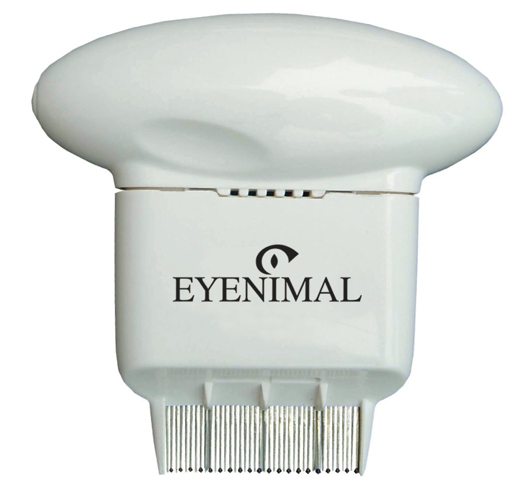 Peigne anti-puces électronique FLEA COMB EYENIMAL pour chien, chat (piles non fournies), éradique les puces, élimine les odeurs ! Num Axes