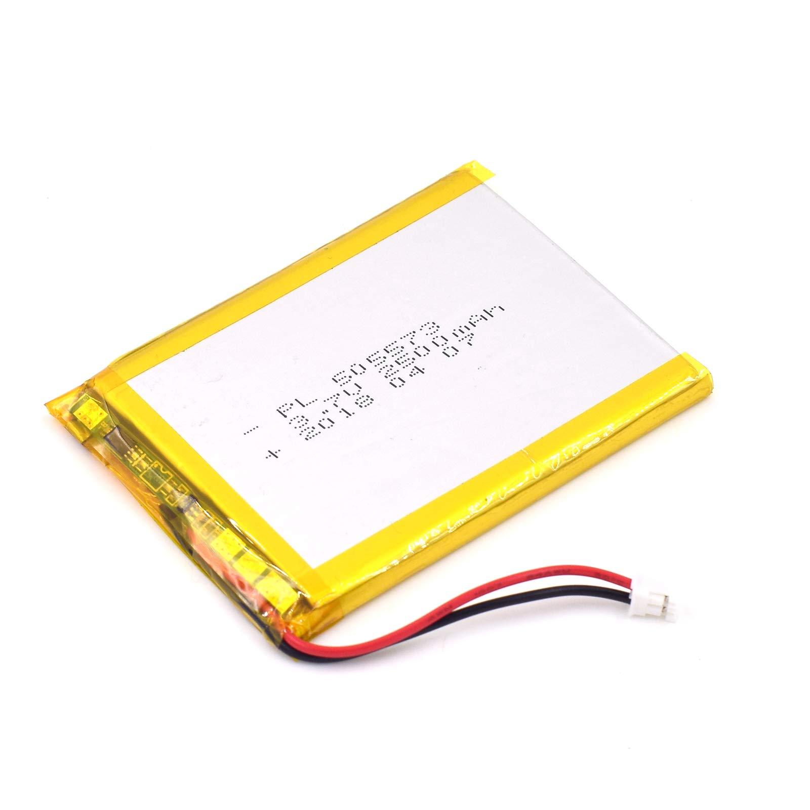 Bateria Lipo 3.7V 2500mAh 505573 Recargable JST Conector