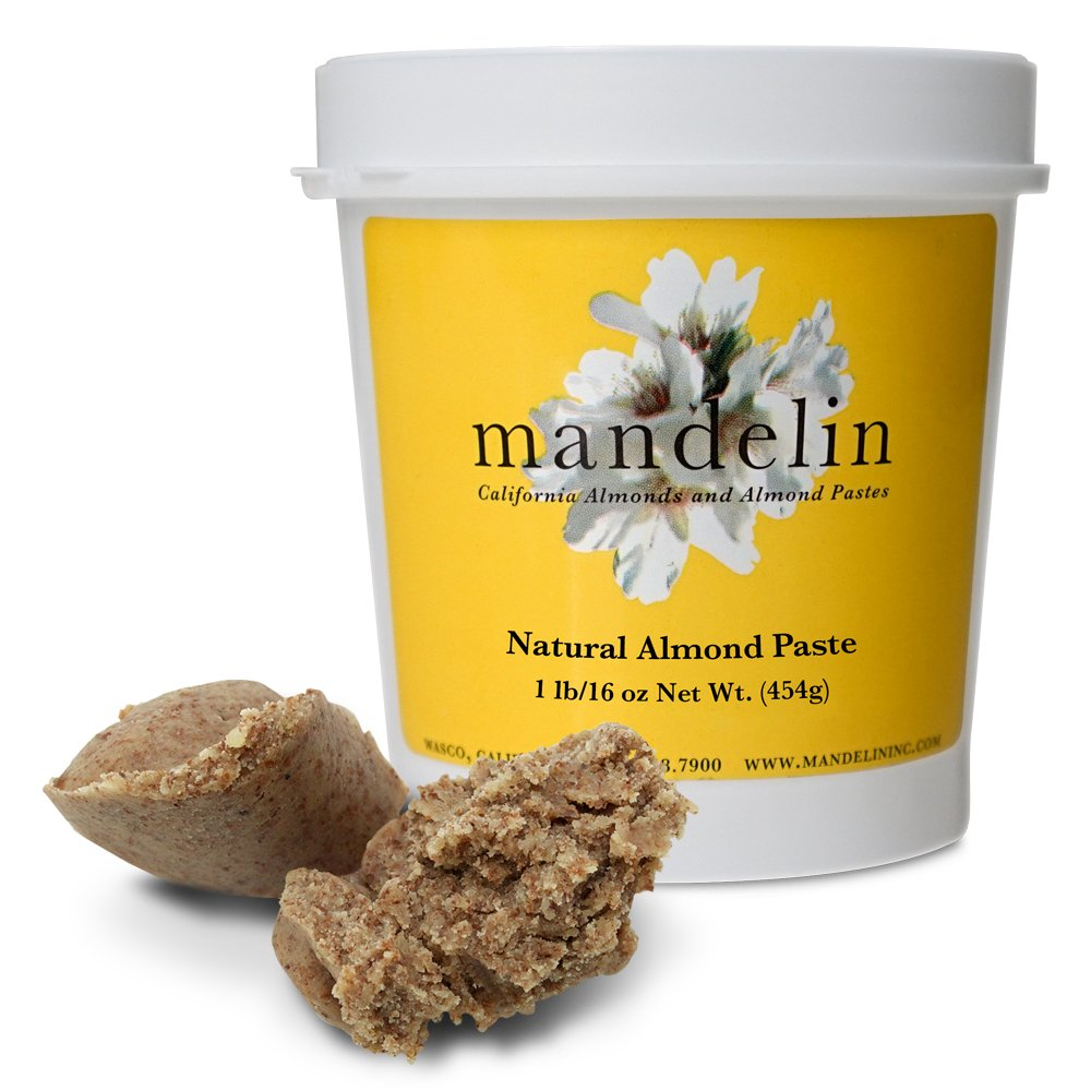 Mandelin Natural Almond Paste (1 lb/16 oz), 50% Almonds, 50% Sugar by Mandelin (Image #1)