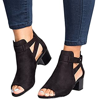 684502dd2ede3 Amazon.com   Puwany Womens Cut Out Ankle Strap Platform Wedge ...