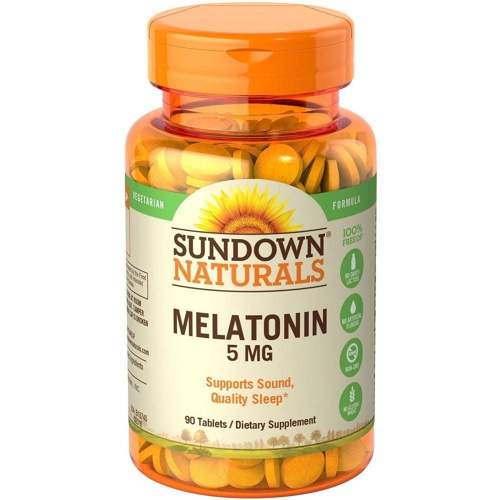 Amazon.com: Sundown Naturals Melatonin 5 mg Tablets 90 ea (Pack of 10): Health & Personal Care
