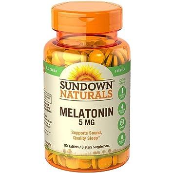 Amazon.com : Sundown Naturals Sundown Naturals Extra Strength Melatonin, 60 tabs 5 mg(Pack of 2) : Garlic Herbal Supplements : Beauty