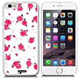 CocoZ? New Apple iPhone 6 s 4.7-inch Case Beautiful flower pattern PC Material Case (White PC & Beautiful flower 15)