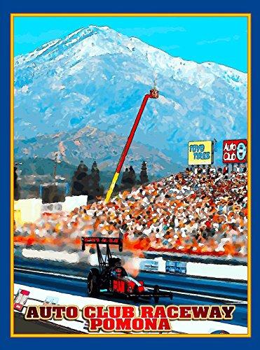 MAGNET Pomona Drag Race California United States Vintage Travel Advertisement Magnet