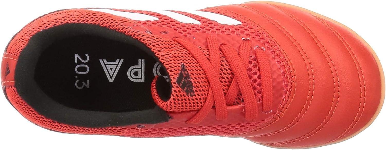 adidas Copa 20.3 in Sala J, Chaussure de Piste d'athlétisme Mixte Enfant Rouge Actif Blanc Ftwr Noir Noyau