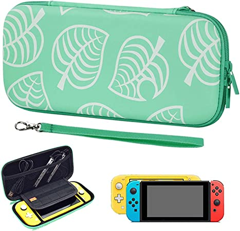 Image of Carrying Case for Nintendo Switch/Switch Lite, Portable Full Protective Case for Switch, Slim Travel Bag Cover for Nintendo Switch/Lite-Games & Accessories (for Switch,Green)