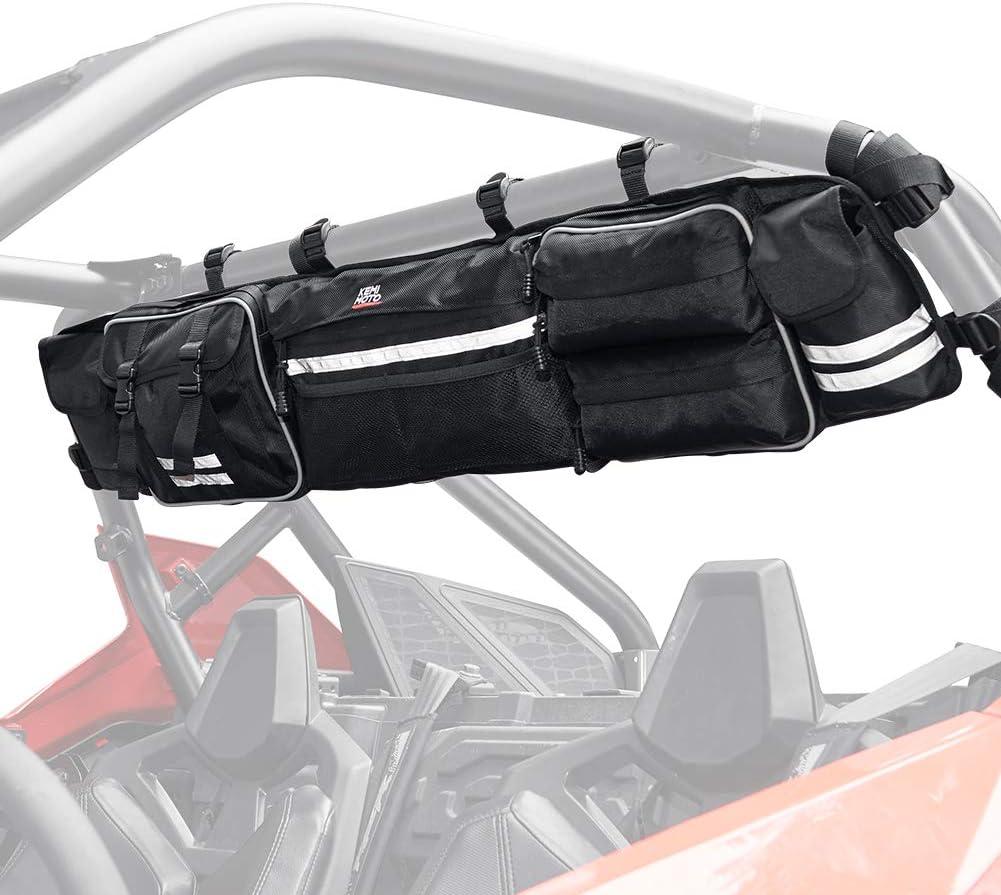 Large Capicity Multifunctional UTV Roll Cage Organizer Cargo Bag Universal Compatible with Polaris Razor Ranger 570 800 900 1000 kemimoto RZR Ranger Rear Storage Bag S 900 1000 XP Turbo