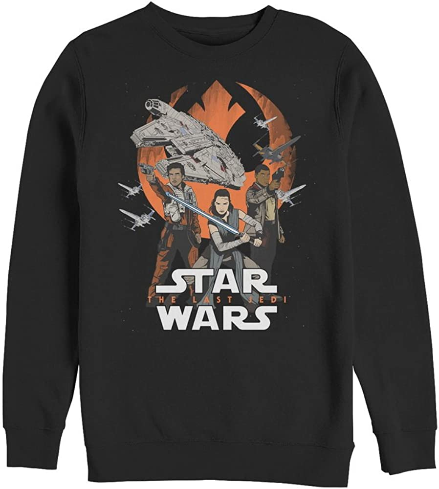 Star Wars The Last Jedi Mens Rebel Trio Sweatshirt