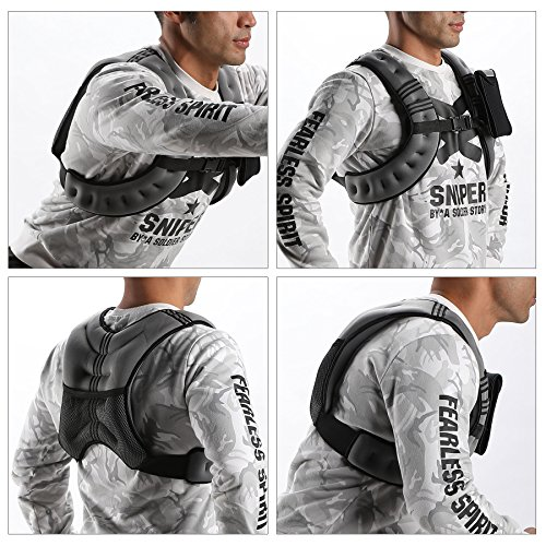 Z ZELUS Weighted Vest 12 lb Adjustable Weight Vest w/Reflective Stripe for Workout, Strength Training, Running, Fitness, Muscle Building, Weight Loss, Weightlifting (Gray)