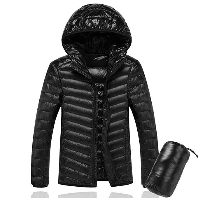 Oraycm Hombres Chaqueta Encapuchada Ultralight 90% White Duck Down Jacket Warm Jacket Line Paquete Portátil Paquete de Hombres Chaqueta: Amazon.es: Ropa y ...