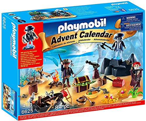 Playmobil Advent Calendar Pirate Treasure Island 6625 (for Kids 4 to 10)