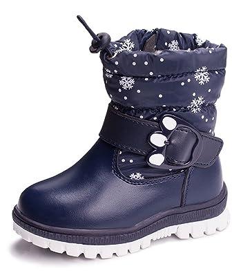 ZUSERIS Kinder Mädchen Winter Stiefel Warm Gefütterte Reißverschluss  Schneestiefel Jungen Winter Stiefeletten Wasserdicht Stiefel PU Leder  Stiefel: ...