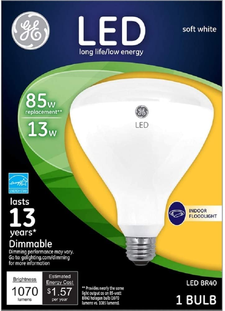 Soft White G E LIGHTING 473162 LED Flood Light Bulb
