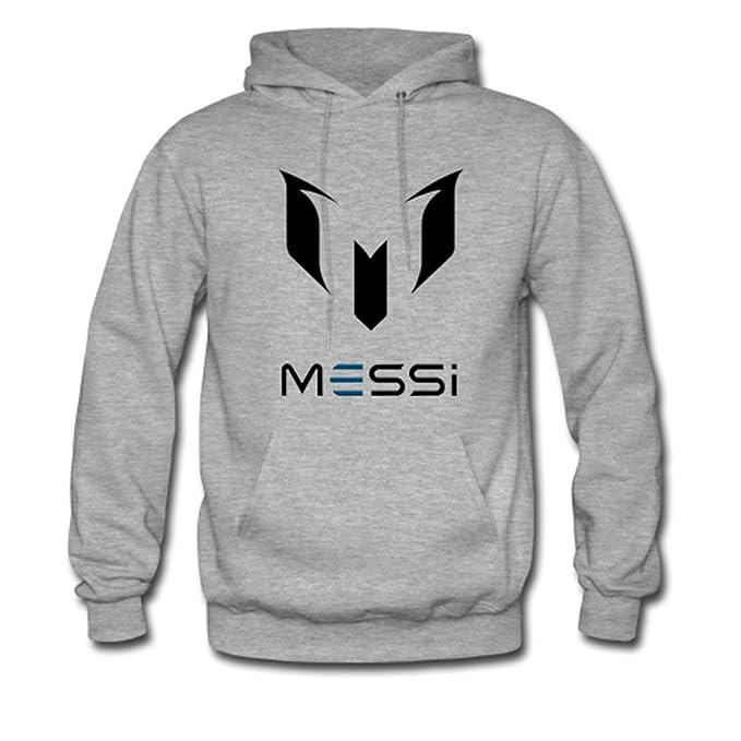 Youth Boy jugador de fútbol Messi Logo Gildan con capucha sudadera chaqueta sudadera con capucha gris: Amazon.es: Ropa y accesorios