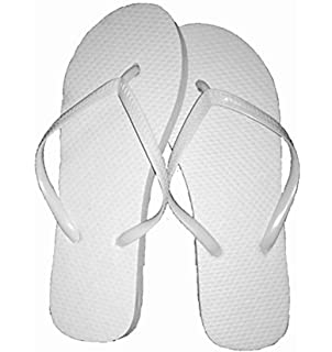 804a69990 Wholesale Ladies 72 Pairs Solid White Flip Flops