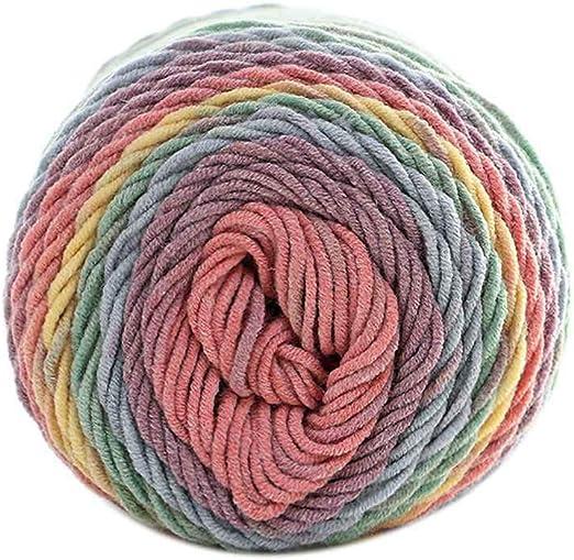 Sunlera 5 filamentos Hilados de algodón Hecho a Mano DIY Bufanda ...