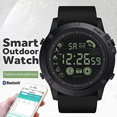 Mollikar Smart Watch, iOS Android Smartwatch for Men, Sport Smart Waterproof Sports Watches Compatible with Android Samsung iOS Phone XS X8 7 6 5