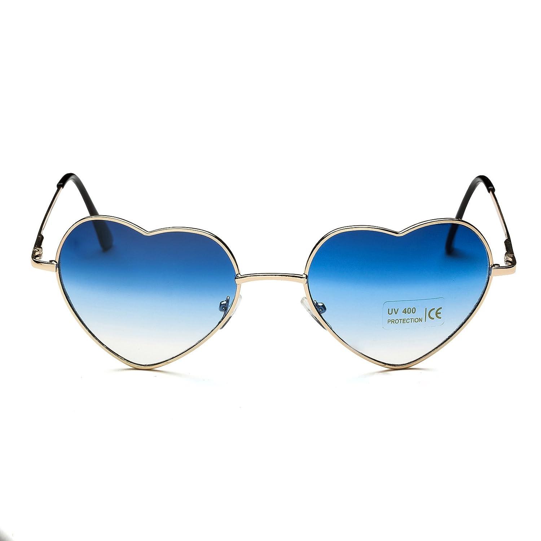 Dollger Herz Sonnenbrille Dünne Metallrahmen Schöne Aviator-Art für ...