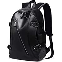 Men's Backpack Leather Travel Bag Extra Capacity Casual Daypacks