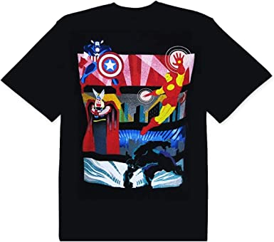 Marvel Avengers Deco Collage Camiseta Negra Para Hombre ...