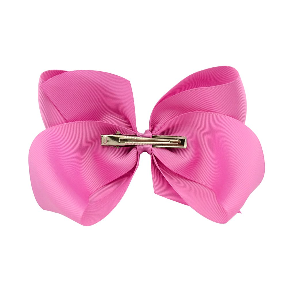6 Inch Large Baby Hair Bows Barrettes Clip Holders Accessories For Toddler Girls 15 pcs by YHXX YLEN (Image #5)