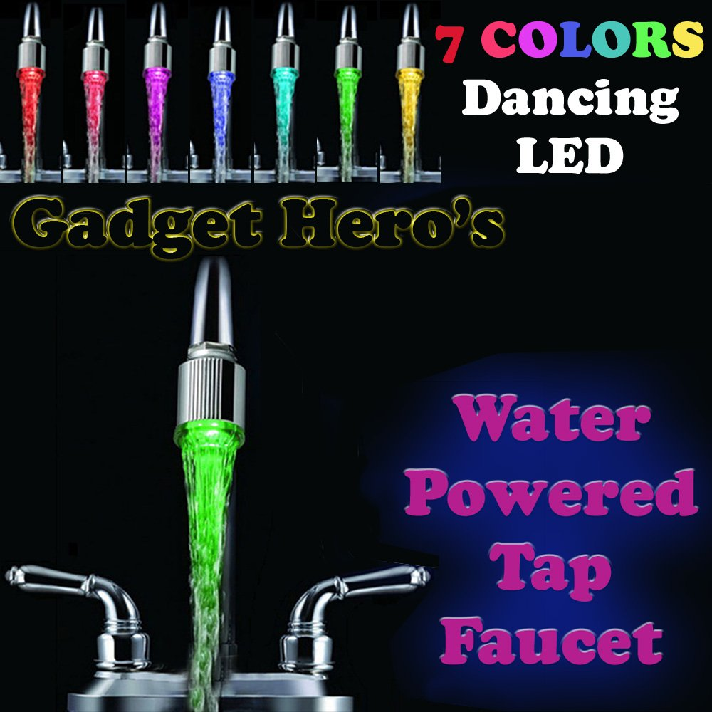 Gadget Hero\'s 7 Color CHanging Led Tap Faucet Glow for Bathroom ...