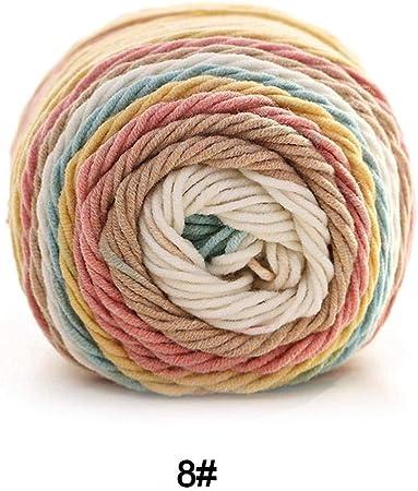 HELLOO HOME - Lana para Tejer con Ovillo de algodón y Colores del ...
