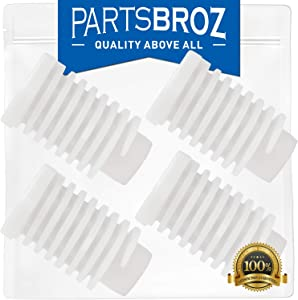 49621 (4-Pack) Leveling Foot for Whirlpool Dryers by PartsBroz - Replaces AP4295805, 279810, 1373044, 2012, 26000688222, 3392100, 40021, 4319350, 49591, 49621VP, 688222, 8221, AH1609293, EA1609293