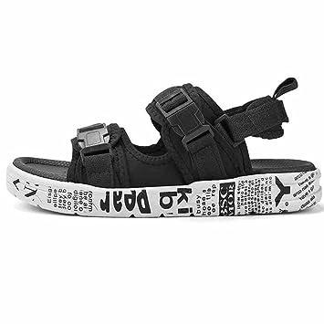 XIAOLIN Herren Sandalen Hausschuhe Herren Sommer koreanische Version des Trends der wilden Persönlichkeit Outdoor Beach Schuhe (optionale Größe) ( Farbe : 02 , größe : EU42/UK8.5/CN43 )