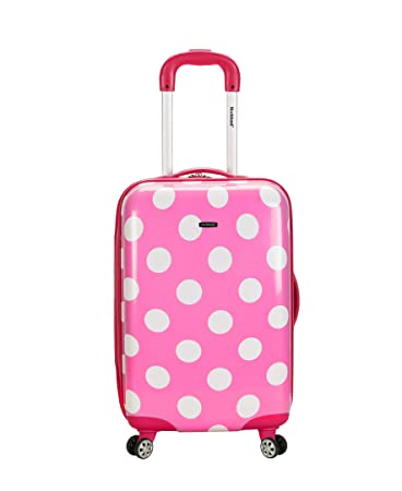 db97fe63e Amazon.com | Rockland Luggage 20 Inch Polycarbonate Carry On, Pink Dot, One  Size | Carry-Ons