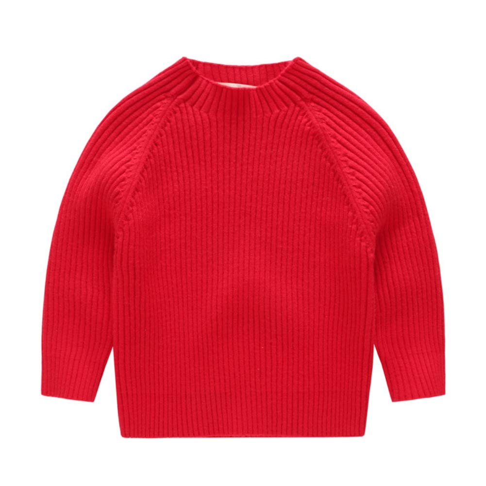 KIMJUN Toddler Baby Boys Girls Pullover Sweater Kid Solid Cable Knit Sweatshirt 0-6t ETYF-45