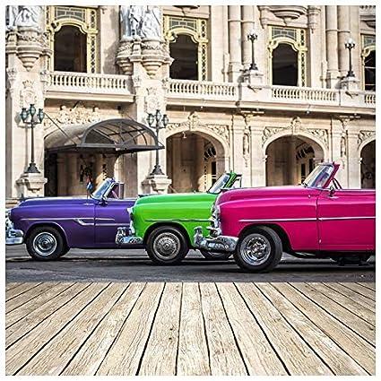 Amazon Com Azutura Vintage Cars Wall Mural Havana Cuba Photo