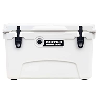 Driftsun 45-Quart Ice Chest, Heavy Duty, High Performance Roto-Molded Commercial Grade Insulated Cooler