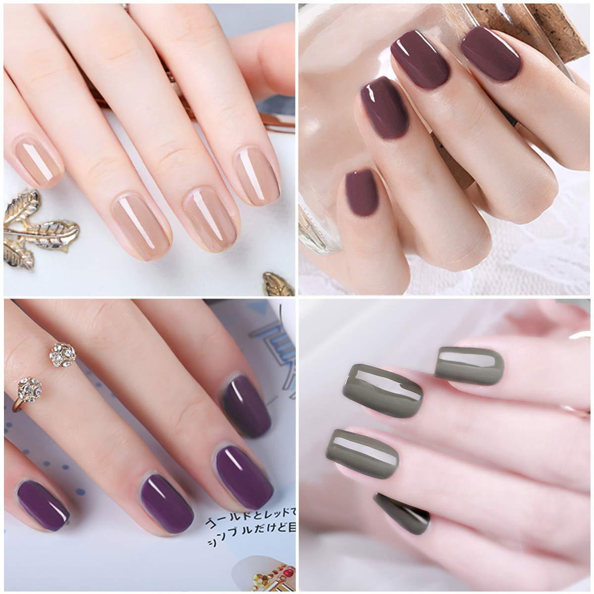 Saviland - Juego de esmaltes de uñas en gel (6 colores): Amazon.es: Belleza