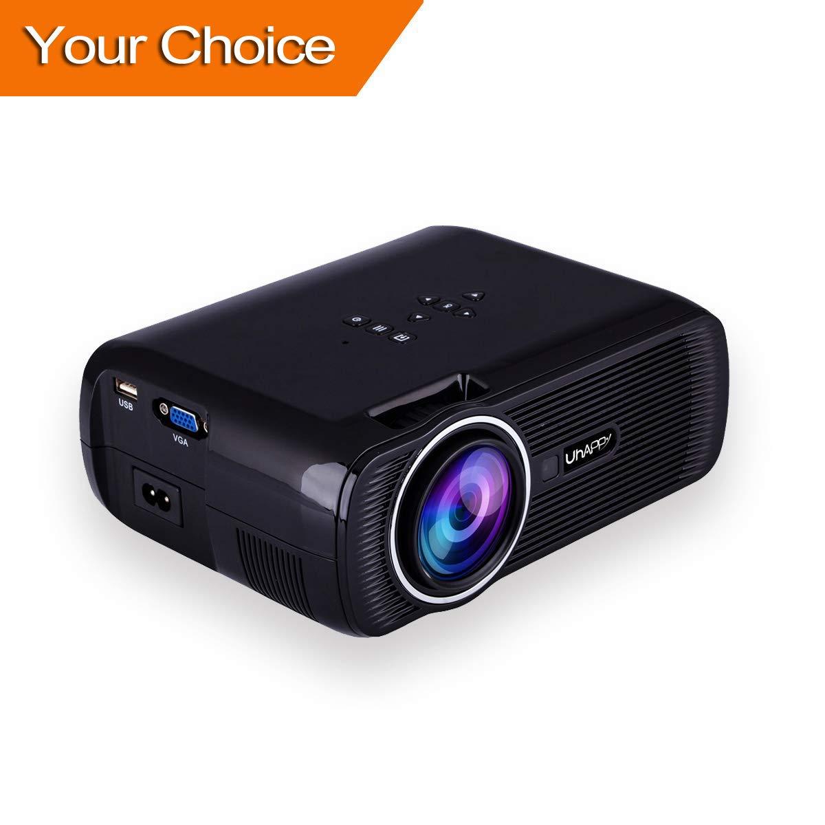 Proiettore LCD 3000 Lumen, TopRui Mini Video Proiettore Portatile per Home Cinema 1080P Full HD,Interfaccia VGA / HDMI / AV / USB / TF, Connessione a TV Stick / Console Giochi /Laptop / MacBook / TV