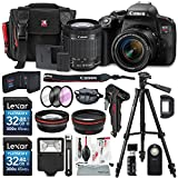 Canon EOS Rebel T7i DSLR Camera with EF-S 18-55mm f/4-5.6 IS Lens and 2 X 32GB, 58mm Telephoto & Wide-Angle Lens, Filters, Tripod, Cases, Flash, Remote, Xpix Lens Accessories For Sale