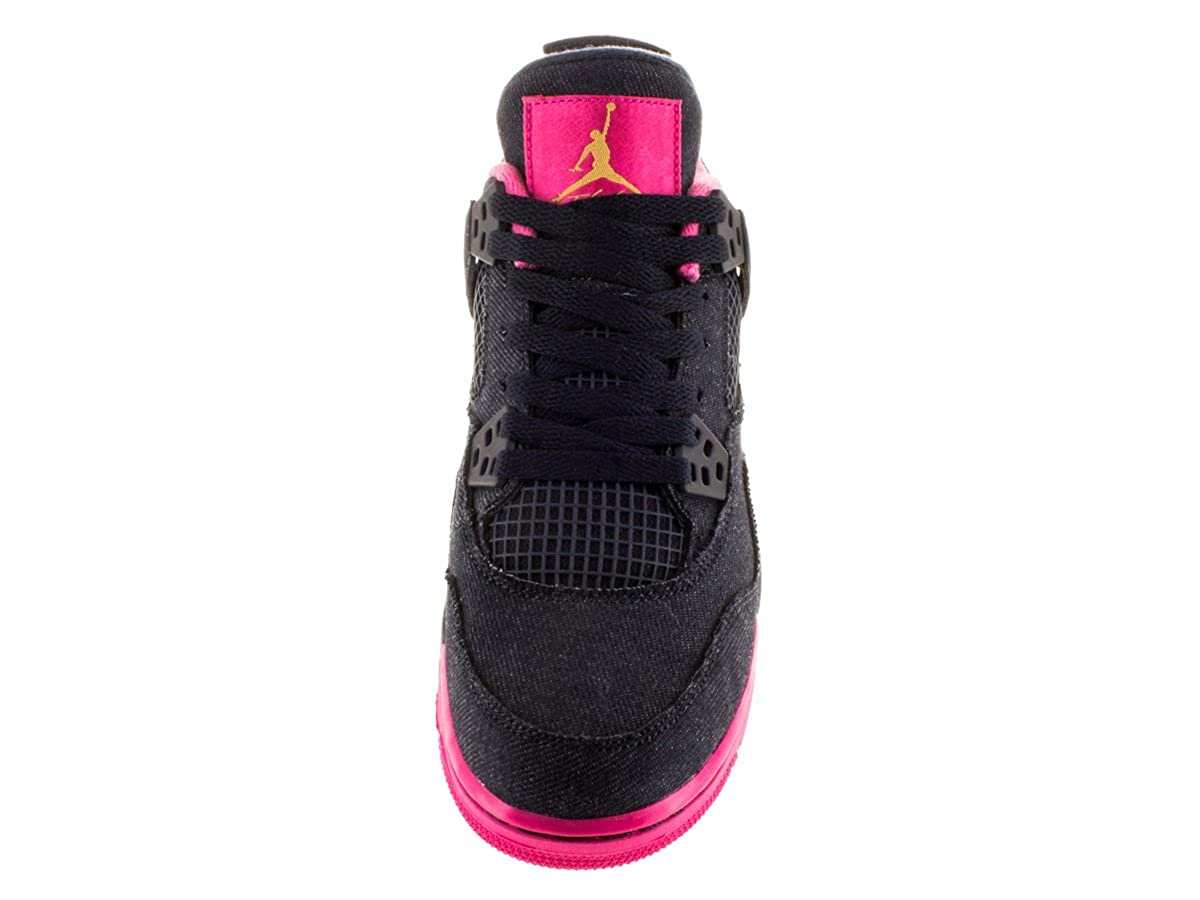 best service b0460 b3d5f Amazon.com  NIKE Girls Air Jordan 4 Retro GG Basketball Shoes Dark Obsidian  487724-408 (7Y)  Jordan  Shoes