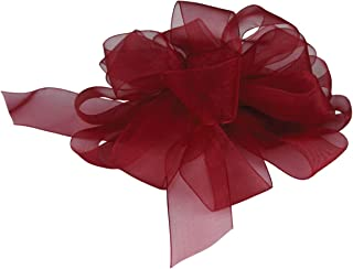 "product image for Offray Berwick LLC 426913 Berwick Simply Sheer Asiana Ribbon - 1-1/2"" W X 25 yd - Burgundy Ribbon"