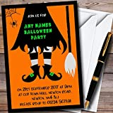 Witches Legs Personalized Halloween Party Invitations