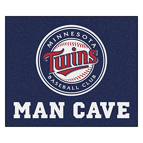 MLB Minnesota Twins Man Cave Tailgater Rectangular Mat Area Rug (Minnesota Twins Tailgater)