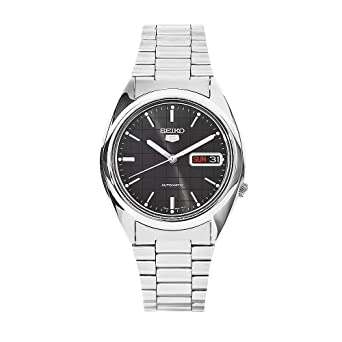 Seiko Mens SNXF07 Grey Dial Stainless Steel Watch
