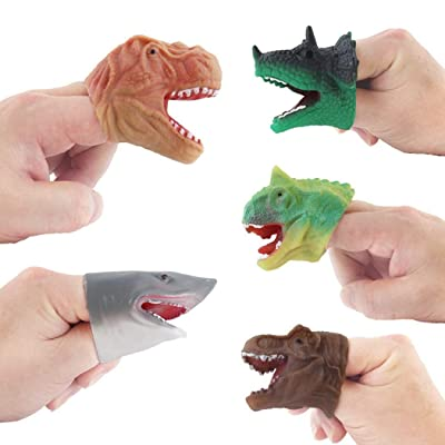 5PCS Finger Toy Realistic Dinosaur Creative Finger Puppet Role Playing Toy: Toys & Games