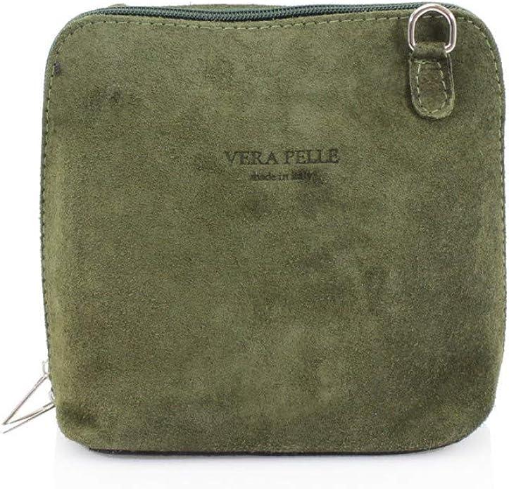 Suede Genuine Leather Vera Pelle Shoulder Bag Slouch Elegant Fashion Handbag