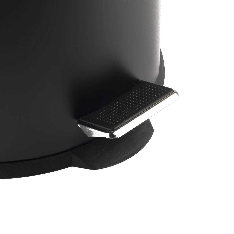 Salter BW07612 Dome Poubelle /à p/édale Noir//dor/é 30 l