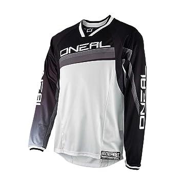 0075s de 6 O Neal Element FR Manga Larga Jersey MTB DH Rojo Gris Mountain Bike Moto Cross Downhill Camiseta Maillots Ropa