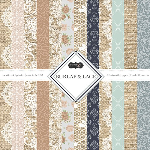 Scrapbook Customs Themed Paper Scrapbook Kit, Burlap & Lace