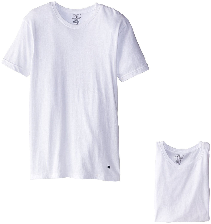 Lucky Brand Men's 3-Pack Crew T-Shirt, White, Small